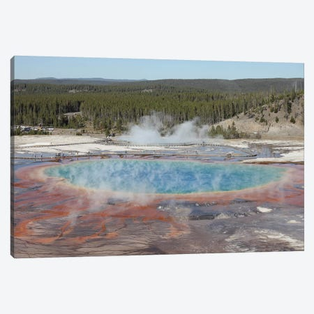 Grand Prismatic Spring, Midway Geyser Basin Geothermal Area, Yellowstone National Park, Wyoming Canvas Print #TRK1883} by Richard Roscoe Canvas Art
