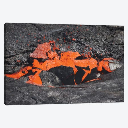 Lava Breaking Through Crust Of Lava Lake, Erta Ale Volcano, Danakil Depression, Ethiopia Canvas Print #TRK1887} by Richard Roscoe Canvas Art Print