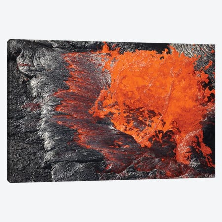 Lava Bursting At Edge Of Active Lava Lake, Erta Ale Volcano, Danakil Depression, Ethiopia I Canvas Print #TRK1891} by Richard Roscoe Canvas Art Print