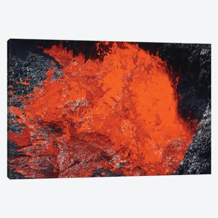 Lava Bursting At Edge Of Active Lava Lake, Erta Ale Volcano, Danakil Depression, Ethiopia II Canvas Print #TRK1892} by Richard Roscoe Canvas Art Print