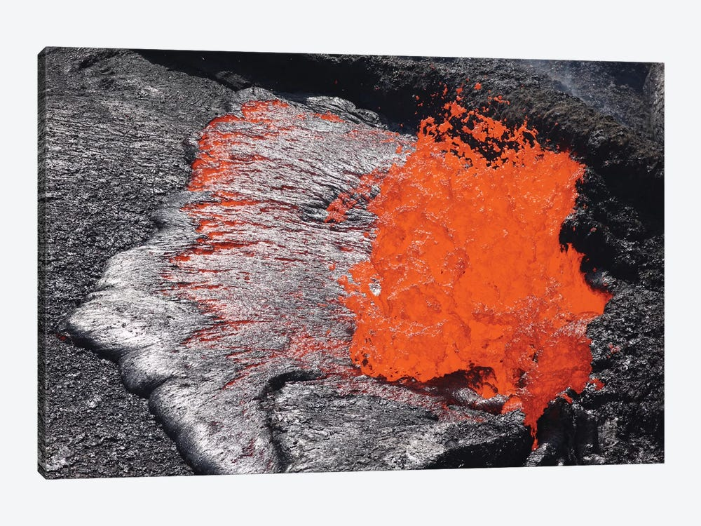 Lava Bursting At Edge Of Active Lava Lake, Erta Ale Volcano, Danakil Depression, Ethiopia III by Richard Roscoe 1-piece Canvas Artwork