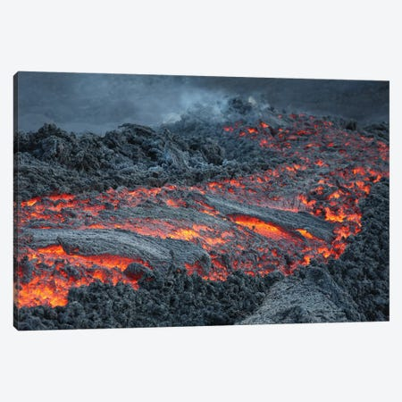 Lava Flow On The Flank Of Pacaya Volcano, Guatemala I Canvas Print #TRK1897} by Richard Roscoe Canvas Art