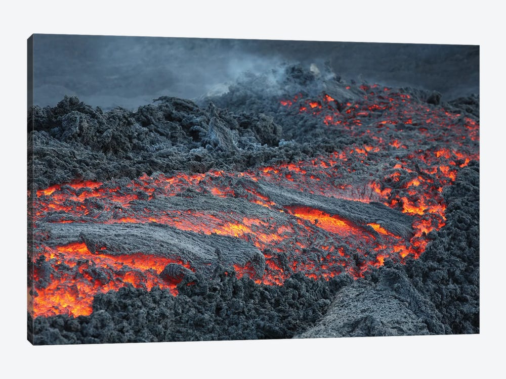 Lava Flow On The Flank Of Pacaya Volcano, Guatemala I 1-piece Canvas Wall Art