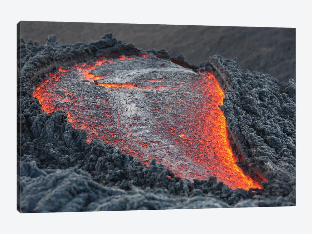 Lava Flow On The Flank Of Pacaya Volcano, Guatemala II by Richard Roscoe 1-piece Canvas Art Print