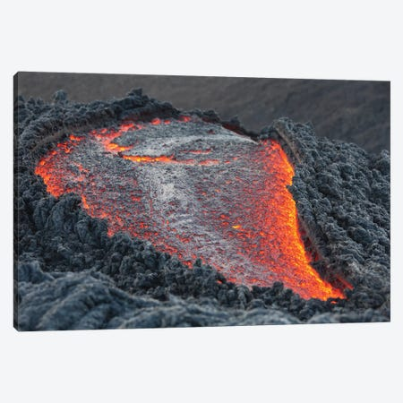 Lava Flow On The Flank Of Pacaya Volcano, Guatemala II Canvas Print #TRK1898} by Richard Roscoe Canvas Print