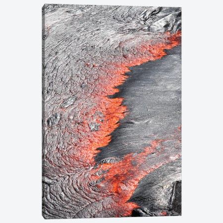 Lava Flowing From Under Crust Of Lava Lake, Erta Ale Volcano, Danakil Depression, Ethiopia Canvas Print #TRK1904} by Richard Roscoe Canvas Art