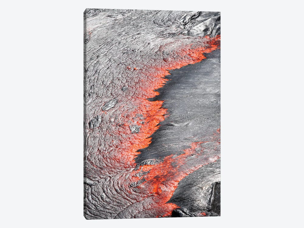 Lava Flowing From Under Crust Of Lava Lake, Erta Ale Volcano, Danakil Depression, Ethiopia by Richard Roscoe 1-piece Art Print
