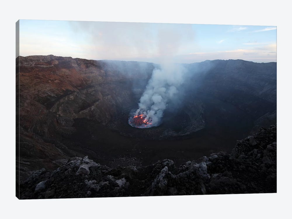 Lava Lake In Bottom Of Summit Caldera, Nyiragongo Volcano, Democratic Republic Of The Congo by Richard Roscoe 1-piece Canvas Artwork