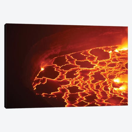 Lava Lake In Summit Caldera, Nyiragongo Volcano, Democratic Republic Of The Congo Canvas Print #TRK1910} by Richard Roscoe Canvas Wall Art
