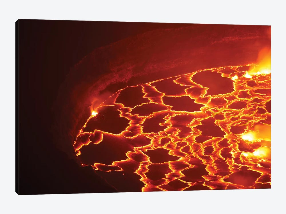 Lava Lake In Summit Caldera, Nyiragongo Volcano, Democratic Republic Of The Congo by Richard Roscoe 1-piece Canvas Artwork