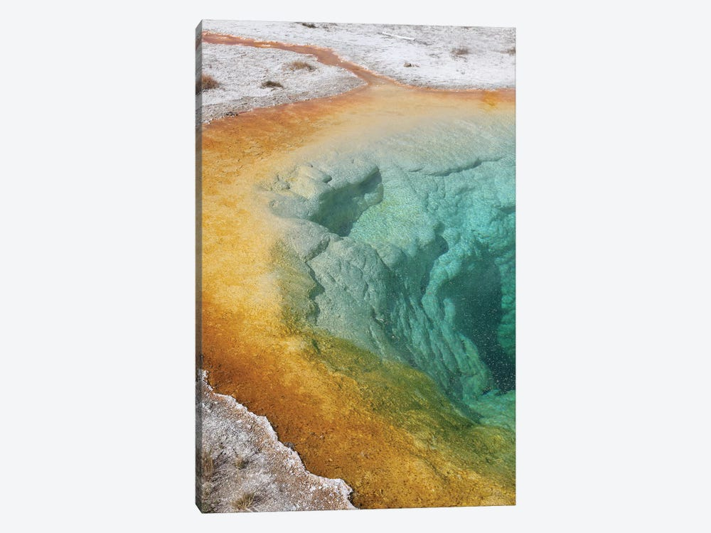 Morning Glory Pool Hot Spring, Upper Geyser Basin Geothermal Area, Yellowstone National Park II by Richard Roscoe 1-piece Canvas Wall Art