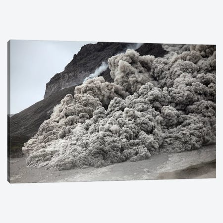 Pyroclastic Flow Descending The Flank Of Soufriere Hills Volcano, Montserrat, Caribbean Canvas Print #TRK1925} by Richard Roscoe Canvas Wall Art