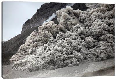 Pyroclastic Flow Descending The Flank Of Soufriere Hills Volcano, Montserrat, Caribbean Canvas Art Print