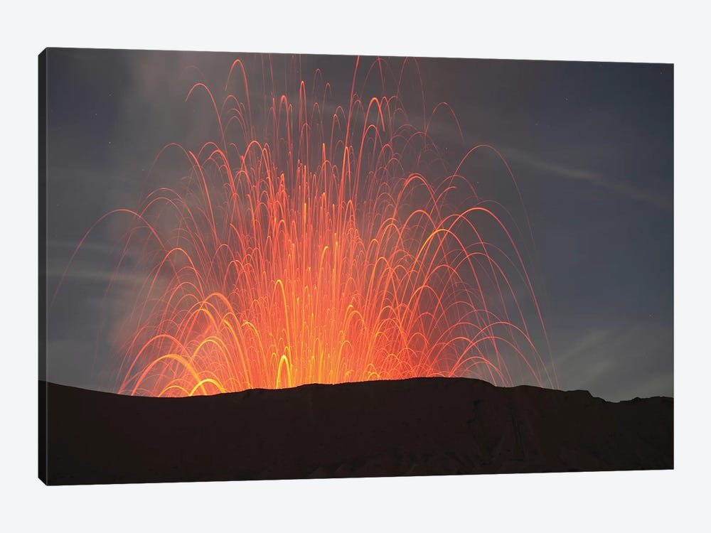 Strombolian Eruption Of Mount Bromo Volcano, Tengger Caldera, Java, Indonesia I by Richard Roscoe 1-piece Canvas Art Print