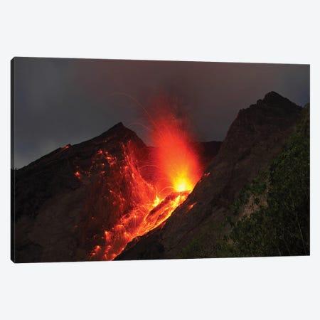 Strombolian Type Eruption Of Batu Tara Volcano, Indonesia II 3-Piece Canvas #TRK1937} by Richard Roscoe Art Print