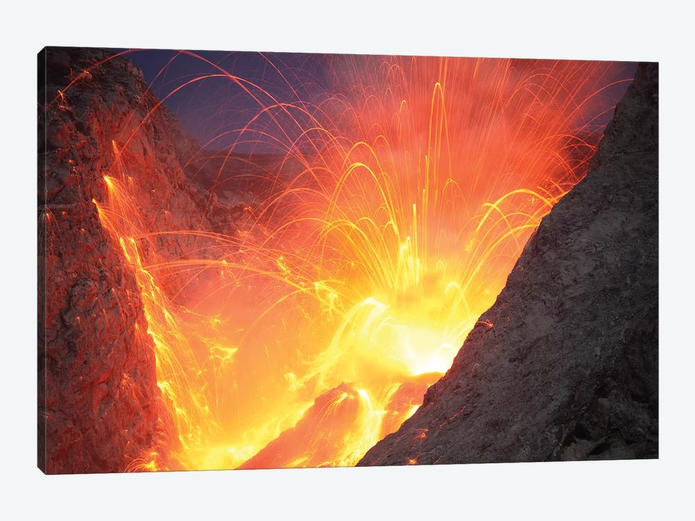 Strombolian Type Eruption Of Batu Tara Volcano, Indonesia VI by Richard Roscoe 1-piece Canvas Artwork