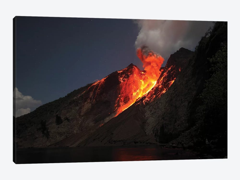 Strombolian Type Eruption Of Batu Tara Volcano, Indonesia VII by Richard Roscoe 1-piece Art Print