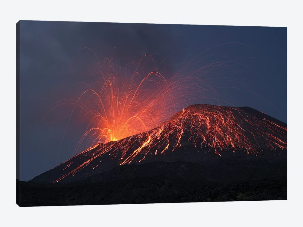 Vulcanian Eruption Of Anak Krakatau Volcano, Sunda Strait, Java, Indonesia II by Richard Roscoe 1-piece Canvas Print