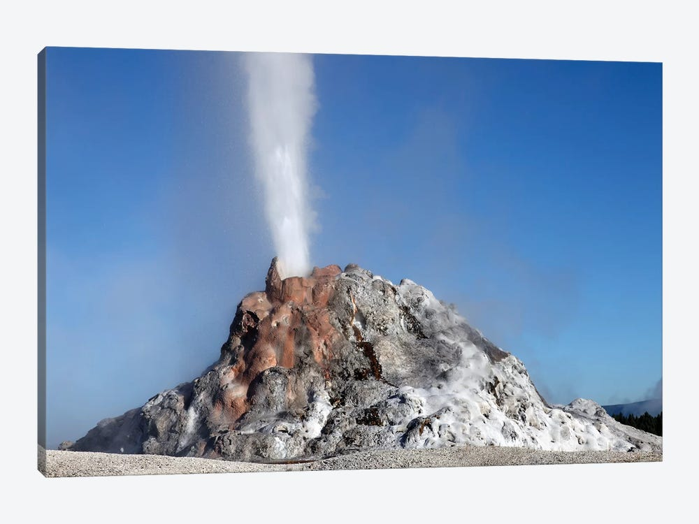 White Dome Geyser Erupting, Upper Geyser Basin Geothermal Area, Yellowstone National Park II by Richard Roscoe 1-piece Canvas Art