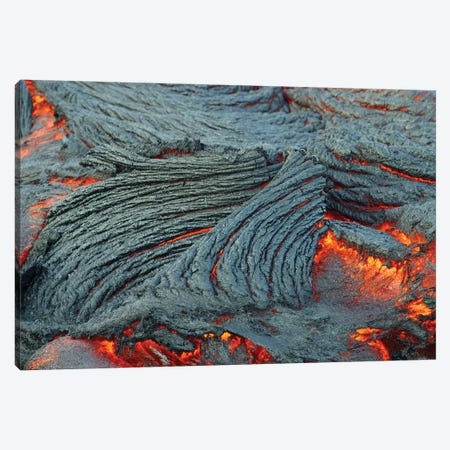 Close-Up Of Lava Flow Off The South End Of The Big Island In Hawaii Canvas Print #TRK1953} by VWPics Canvas Artwork