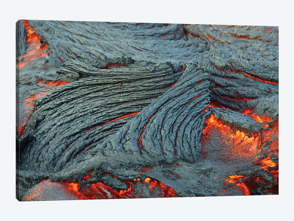 Close-Up Of Lava Flow Off The South End Of The Big Island In Hawaii by VWPics 1-piece Canvas Print