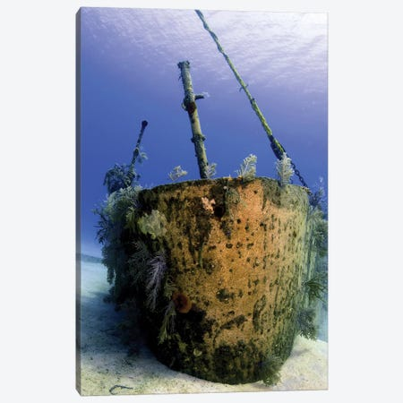Bow Of The Oro Verde Wreck, Grand Cayman Canvas Print #TRK1955} by Amanda Nicholls Art Print