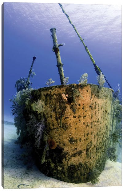 Bow Of The Oro Verde Wreck, Grand Cayman Canvas Art Print