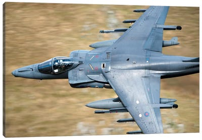 A Royal Air Force Harrier GR9 Flying Low Over North Wales Canvas Art Print