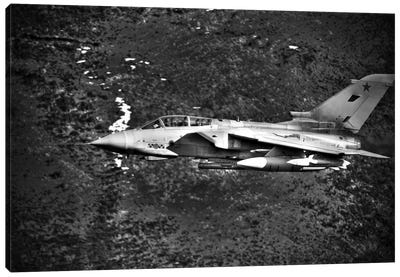 A Royal Air Force Tornado GR4 During Low Fly Training In North Wales I Canvas Art Print