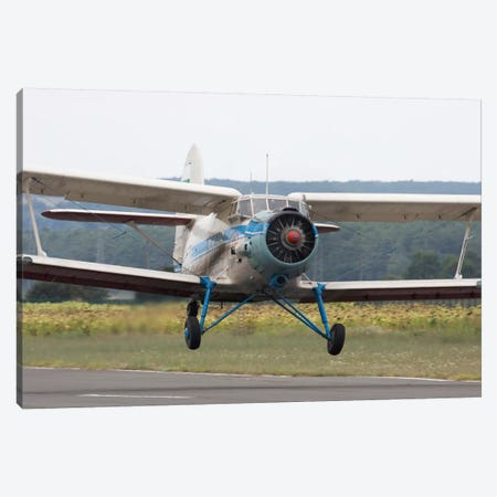 An Antonov An-2 Taking Off From An Airfield In Bulgaria Canvas Print #TRK204} by Anton Balakchiev Canvas Wall Art