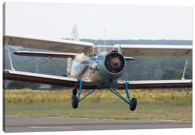An Antonov An-2 Taking Off From An Airfield In Bulgaria Canvas Art Print