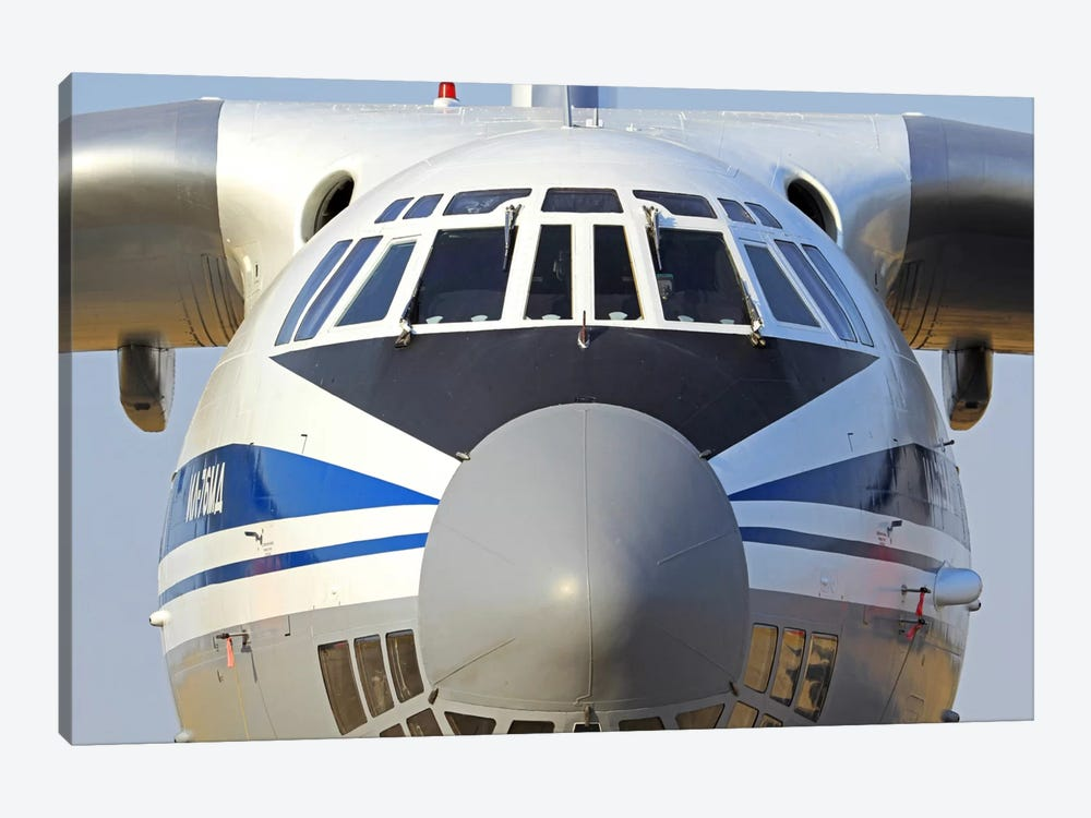 Close-Up Of A Russian Air Force Ilyushin Il-76 Airliner by Anton Balakchiev 1-piece Canvas Art Print