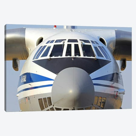 Close-Up Of A Russian Air Force Ilyushin Il-76 Airliner Canvas Print #TRK205} by Anton Balakchiev Canvas Artwork