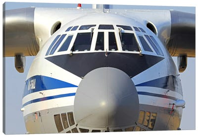 Close-Up Of A Russian Air Force Ilyushin Il-76 Airliner Canvas Art Print