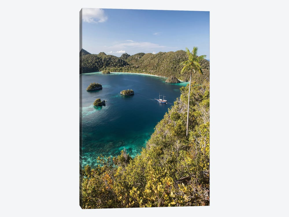 Forest-Covered Limestone Islands Surround A Lagoon In Raja Ampat by Ethan Daniels 1-piece Canvas Wall Art