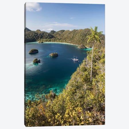 Forest-Covered Limestone Islands Surround A Lagoon In Raja Ampat Canvas Print #TRK2063} by Ethan Daniels Canvas Artwork