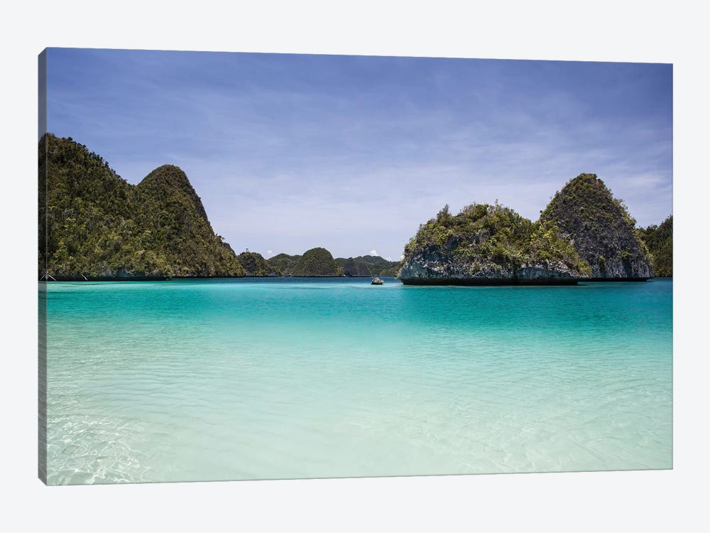 Rugged Limestone Islands Surround A Gorgeous Lagoon In Raja Ampat I by Ethan Daniels 1-piece Art Print