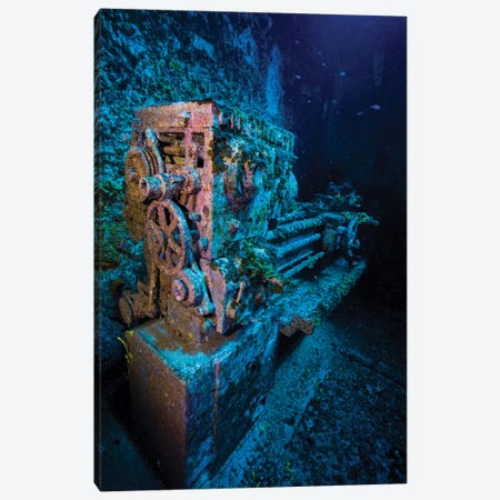 A Look Inside The USS Kittiwake Shipwreck, Grand Cayman, Cayman Islands Canvas Print #TRK2083} by Jennifer Idol Canvas Art