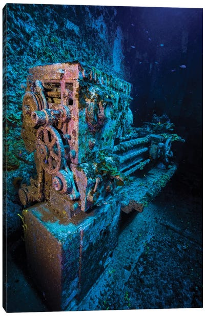 A Look Inside The USS Kittiwake Shipwreck, Grand Cayman, Cayman Islands Canvas Art Print