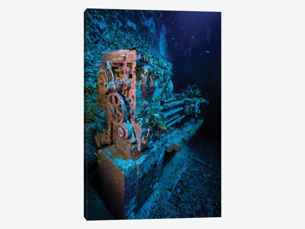 A Look Inside The USS Kittiwake Shipwreck, Grand Cayman, Cayman Islands by Jennifer Idol 1-piece Canvas Wall Art