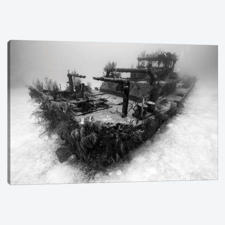 A View Of The Doc Polson Shipwreck In Grand Cayman, Cayman Islands Canvas Print #TRK2086} by Jennifer Idol Canvas Print