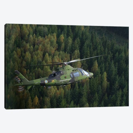 AgustaWestland A109 Helicopter Of The Swedish Air Force Canvas Print #TRK210} by Daniel Karlsson Canvas Art