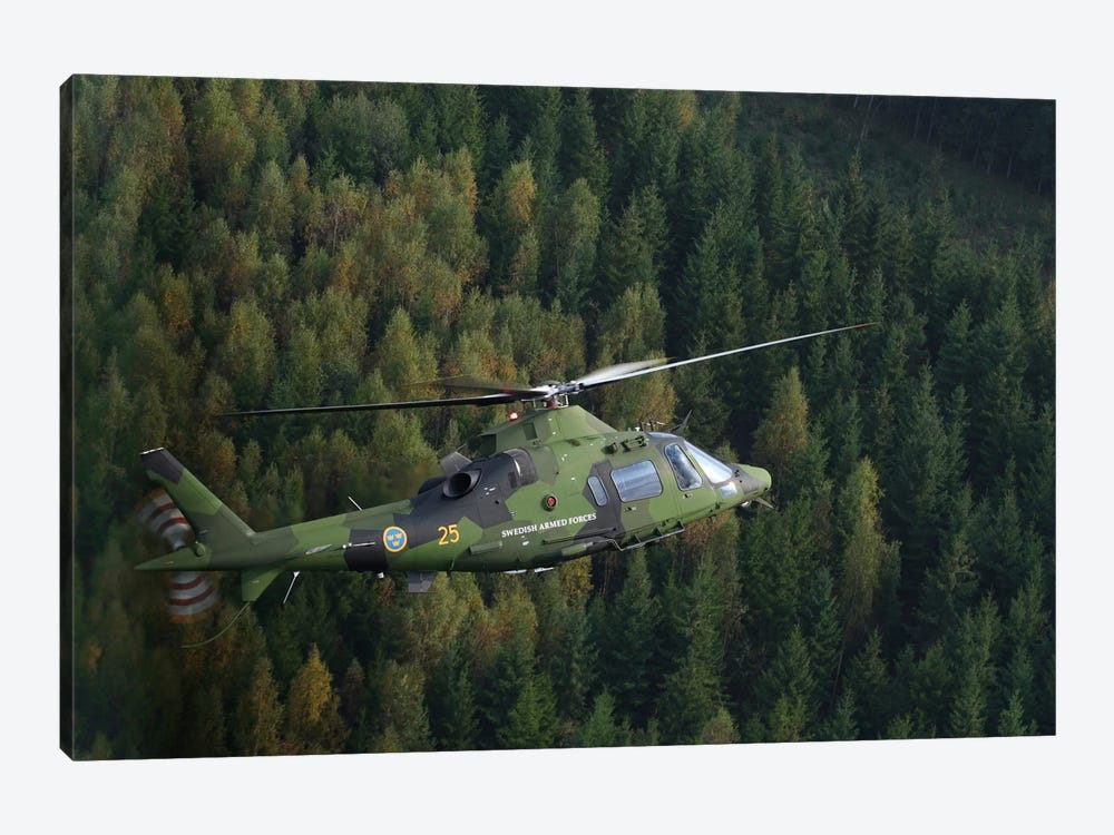 AgustaWestland A109 Helicopter Of The Swedish Air Force by Daniel Karlsson 1-piece Art Print