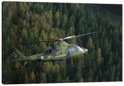 AgustaWestland A109 Helicopter Of The Swedish Air Force Canvas Art Print