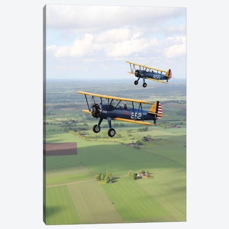 Boeing Stearman Model 75 Kaydet In US Army Colors I Canvas Print #TRK211} by Daniel Karlsson Canvas Artwork