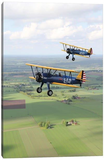 Boeing Stearman Model 75 Kaydet In US Army Colors I Canvas Art Print