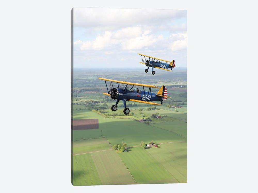 Boeing Stearman Model 75 Kaydet In US Army Colors I by Daniel Karlsson 1-piece Canvas Wall Art
