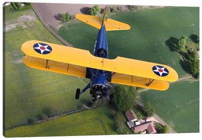 Boeing Stearman Model 75 Kaydet In US Army Colors II Canvas Art Print