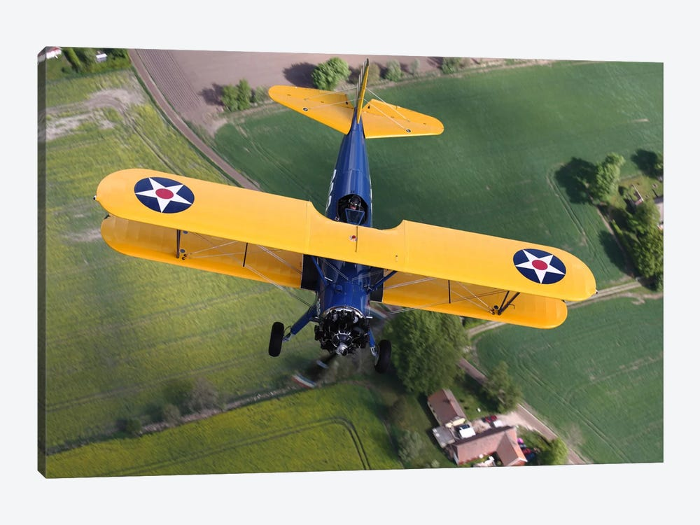 Boeing Stearman Model 75 Kaydet In US Army Colors II by Daniel Karlsson 1-piece Canvas Print