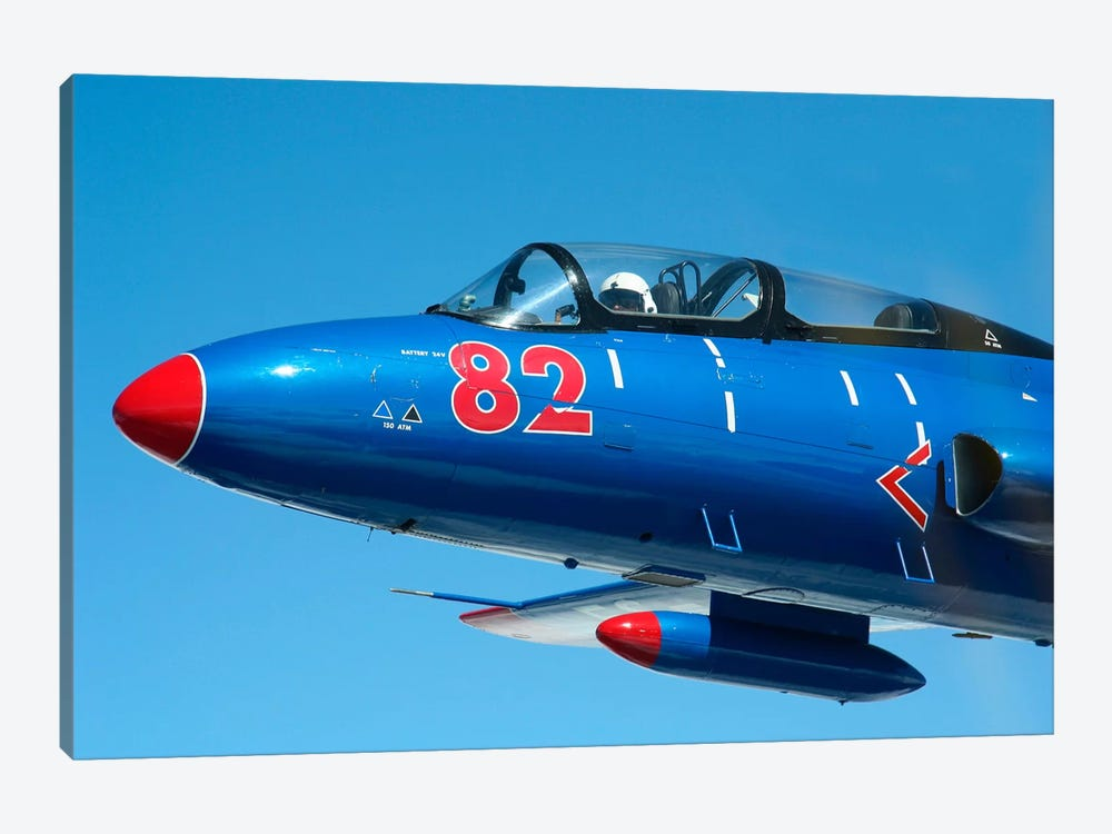 L-29 Delfin Standard Jet Trainer Of The Warsaw Pact by Daniel Karlsson 1-piece Canvas Art Print